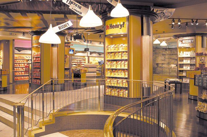 Hershey's Chocolate World interior Photo by https://hersheyschocolateworldniagarafalls.ca