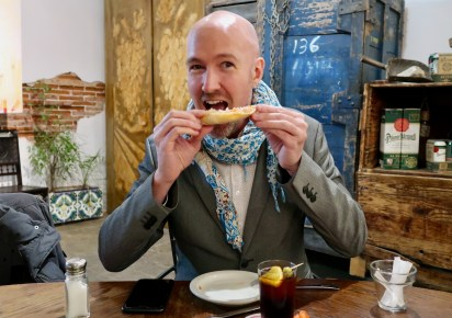 The Catalan style of eating bread is really enjoyable!