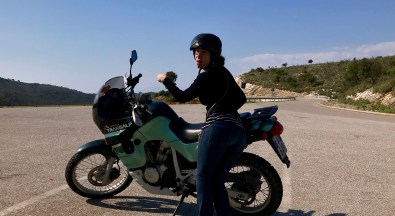 Birthday Motorcycling in Butrint