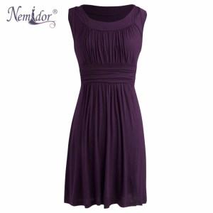 nemidor-2016-spring-summer-women-elegant-o-neck-retro-pleated-swing-dresses-casual-sleeveless-midi-party
