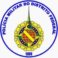 Brasão da PMDF: Data de fundação 1809.
