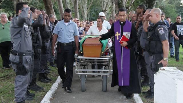 enterro de PM herói