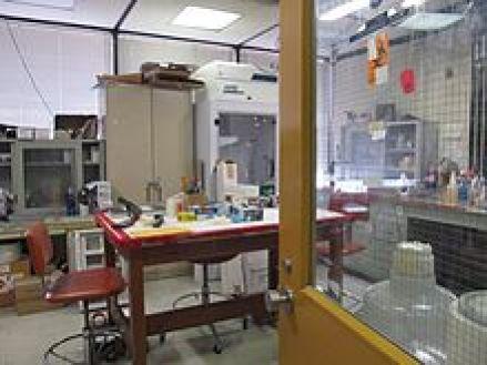 laboratório de identificação de impressões digitais