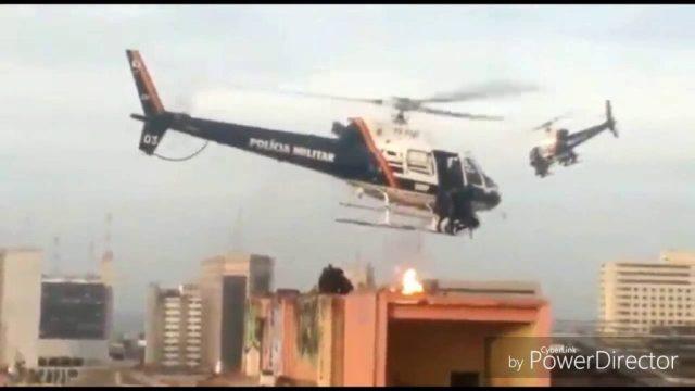 Helopteros PMDF ataque a hotel guerrilheiros