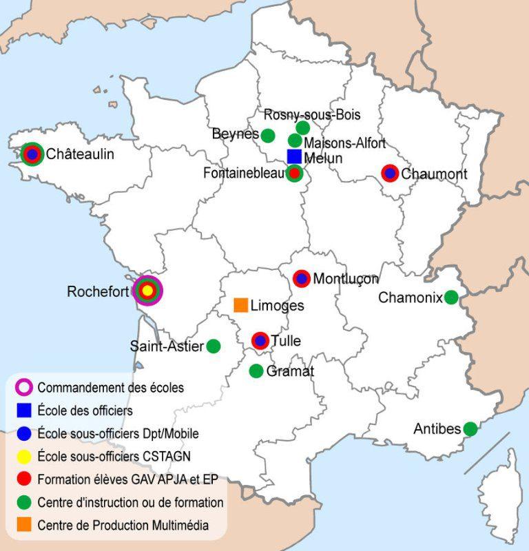 Escolas de Formação da Gendarmerie