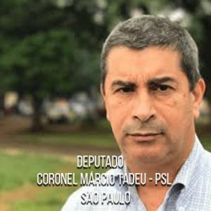 Deputado Coronel Márcio Tadeu – PSL- Tenente Coronel da PMESP