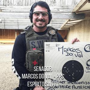 Senador Marcos do Val – PPS – Instrutor em cursos de Segurança Pública