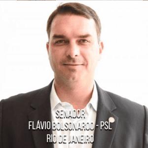Senador Flávio Bolsonaro – PSL – Filho de Jair Bolsonaro