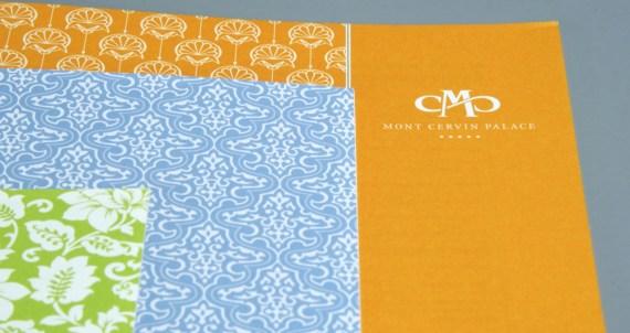 Mont Cervin Palace Speisekarten Bar im neuen CD by Werbeagentur Bern - Blitz & Donner
