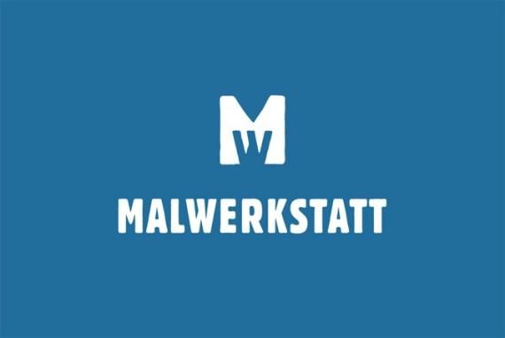 Malwerkstatt Bern Blau Visitenkarte von Werbeagentur Bern - Blitz & Donner