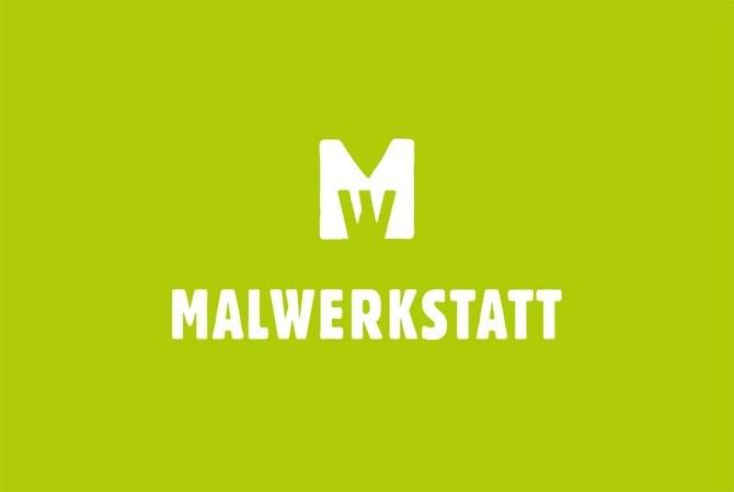 Malwerkstatt Bern Grün Visitenkarte von Werbeagentur Bern - Blitz & Donner