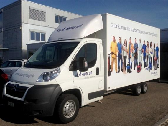 Fahrzeugbeschriftung für Stampfli Reinigungen-3205