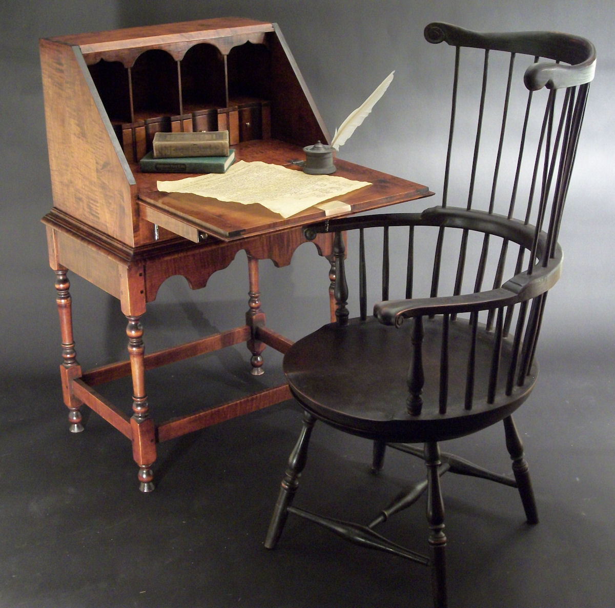 first high chair invented how to paint leather thomas jefferson the swivel and