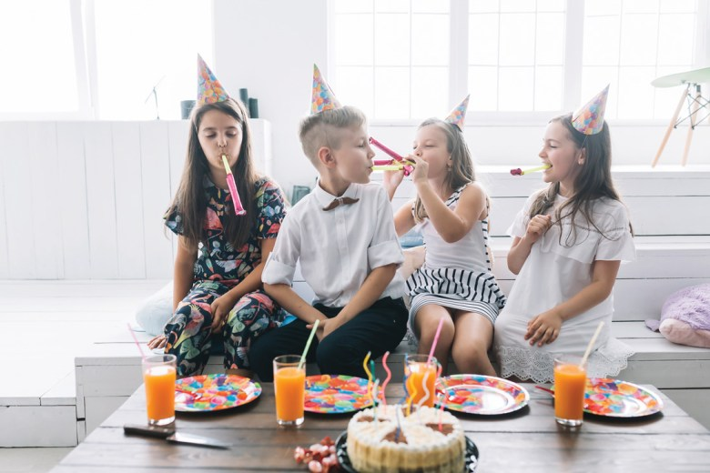kids enjoying at a birthday party