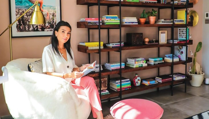 Pinky Goat CEO Maha Morley-Kirk peach home