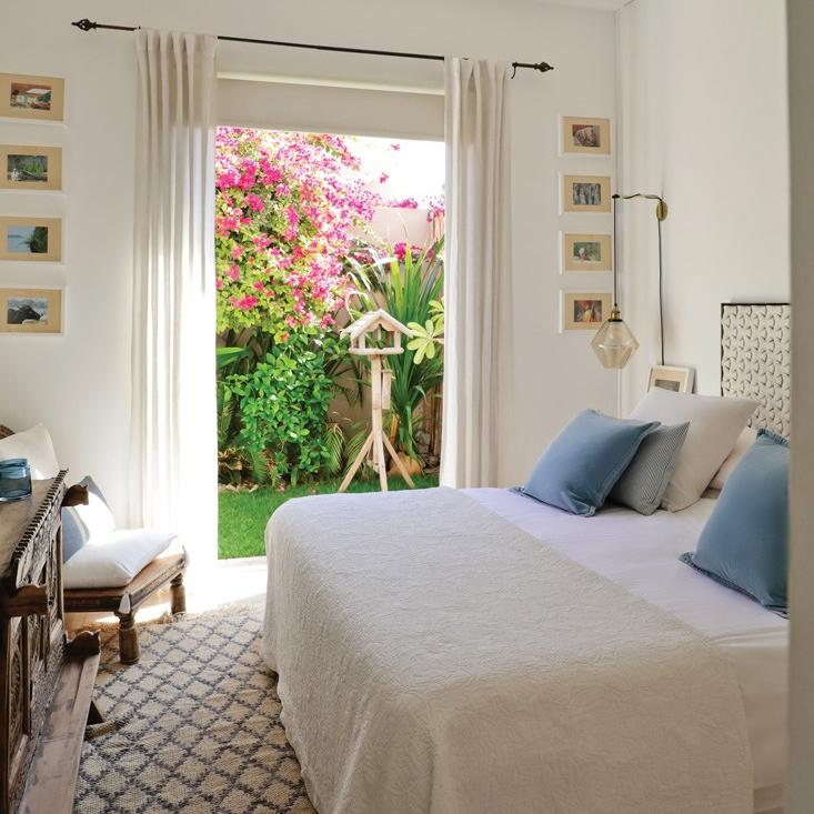 Bedroom with garden entrance