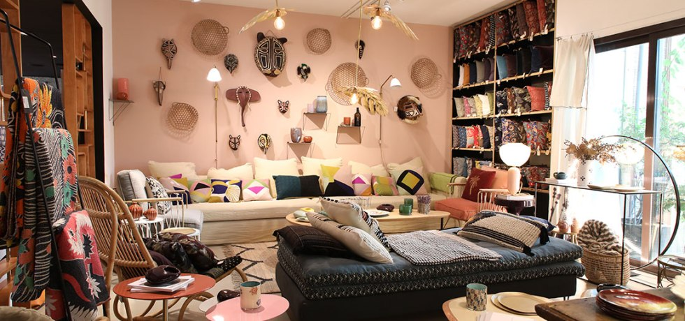 Furniture and accessories at Comptoir 102 in Dubai