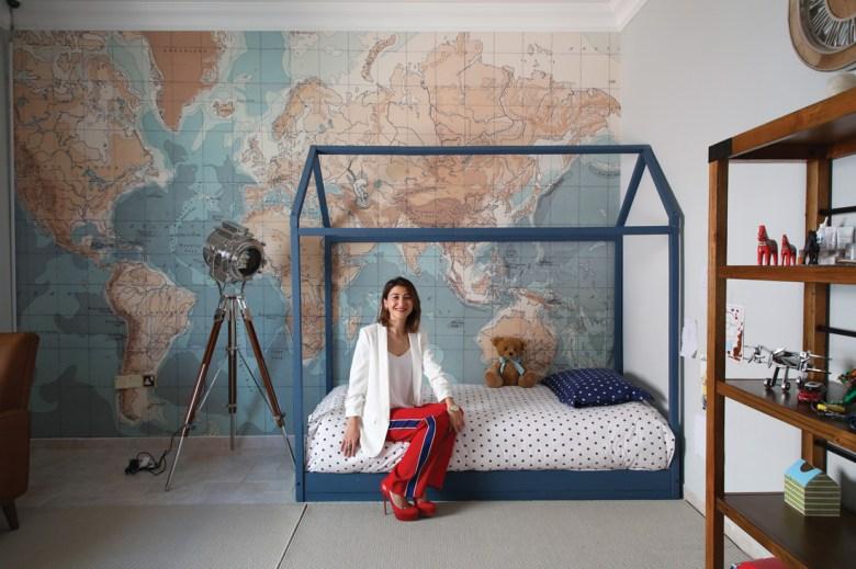 Interior Designer Gabby Garvey in a childs bedroom