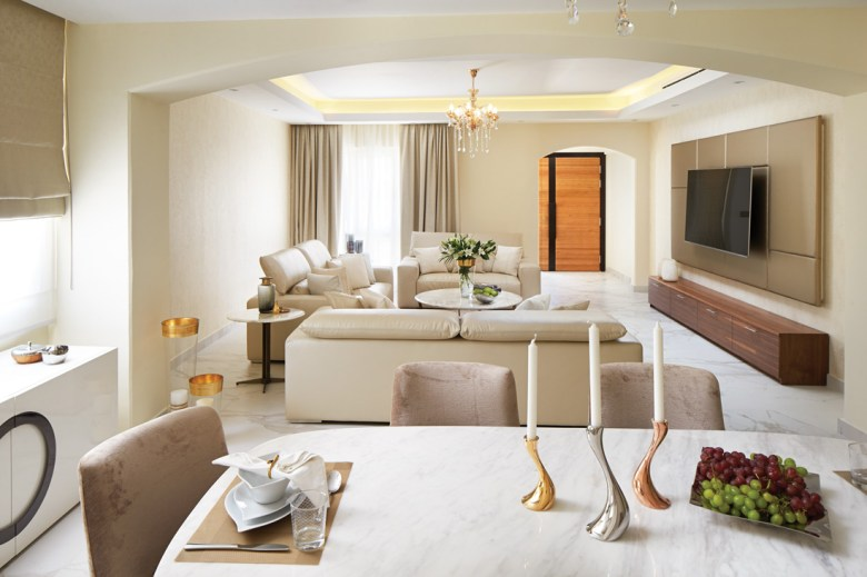 Luxury living space with neutral colours