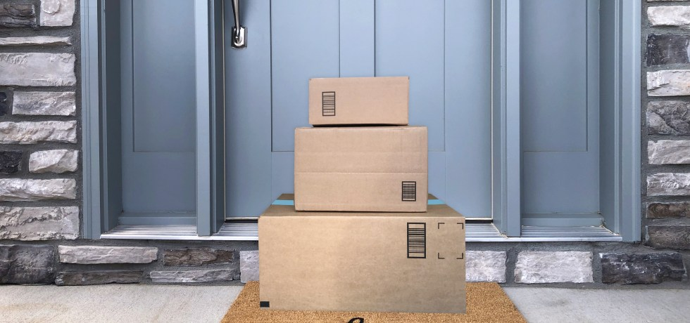 boxes on the doorstep for home delivery