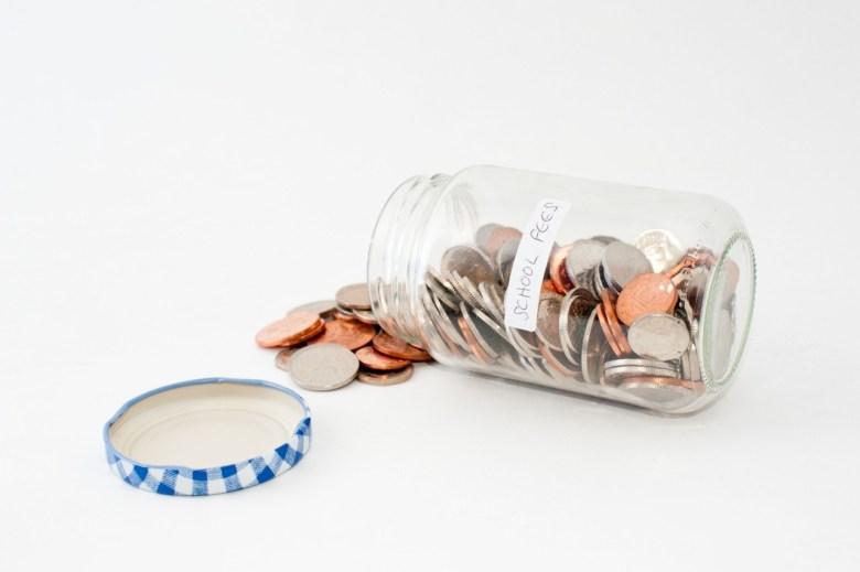 school fees penny jar