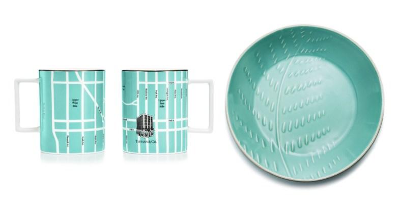 tiffany co mugs and plate