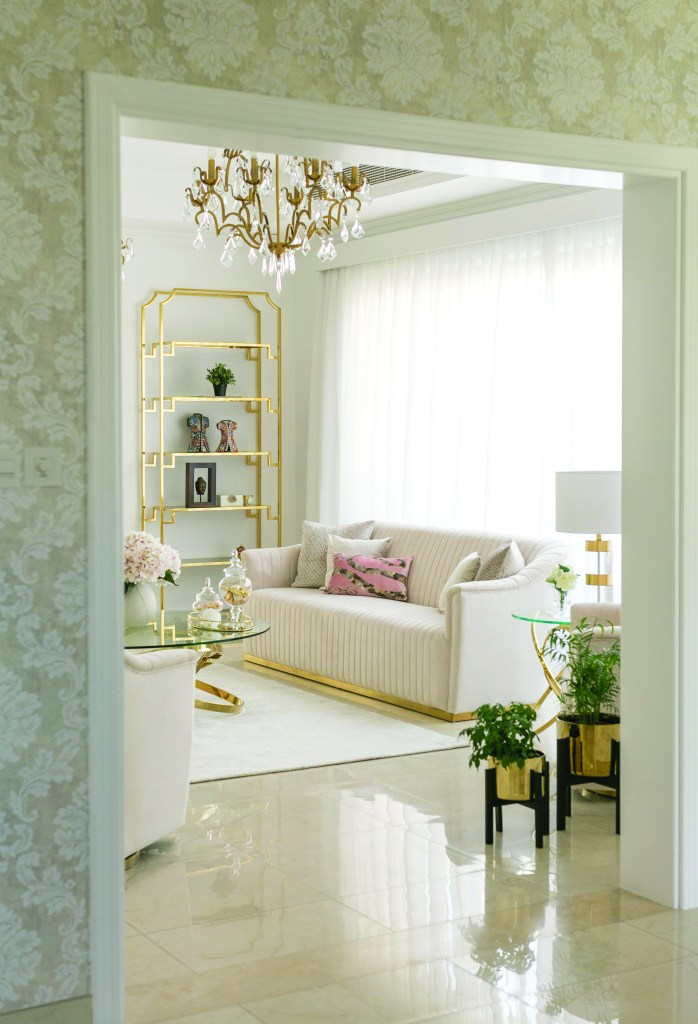 An elegantly styled living room