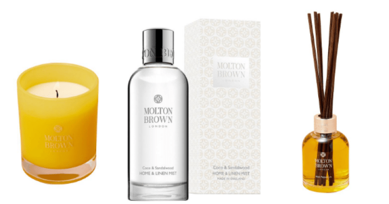 Molton Brown home fragrance products