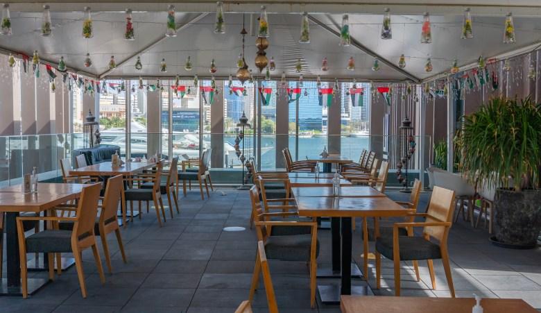 The upstairs shisha lounge at ILA Restaurant & Cafe