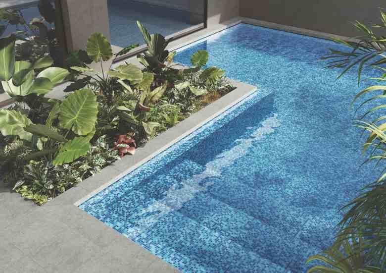 Blue pool tiles RAK Ceramics