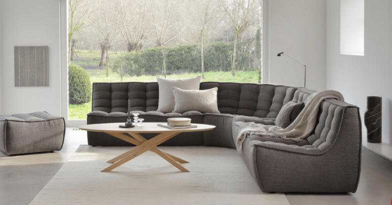 Soul and Tables grey sofa