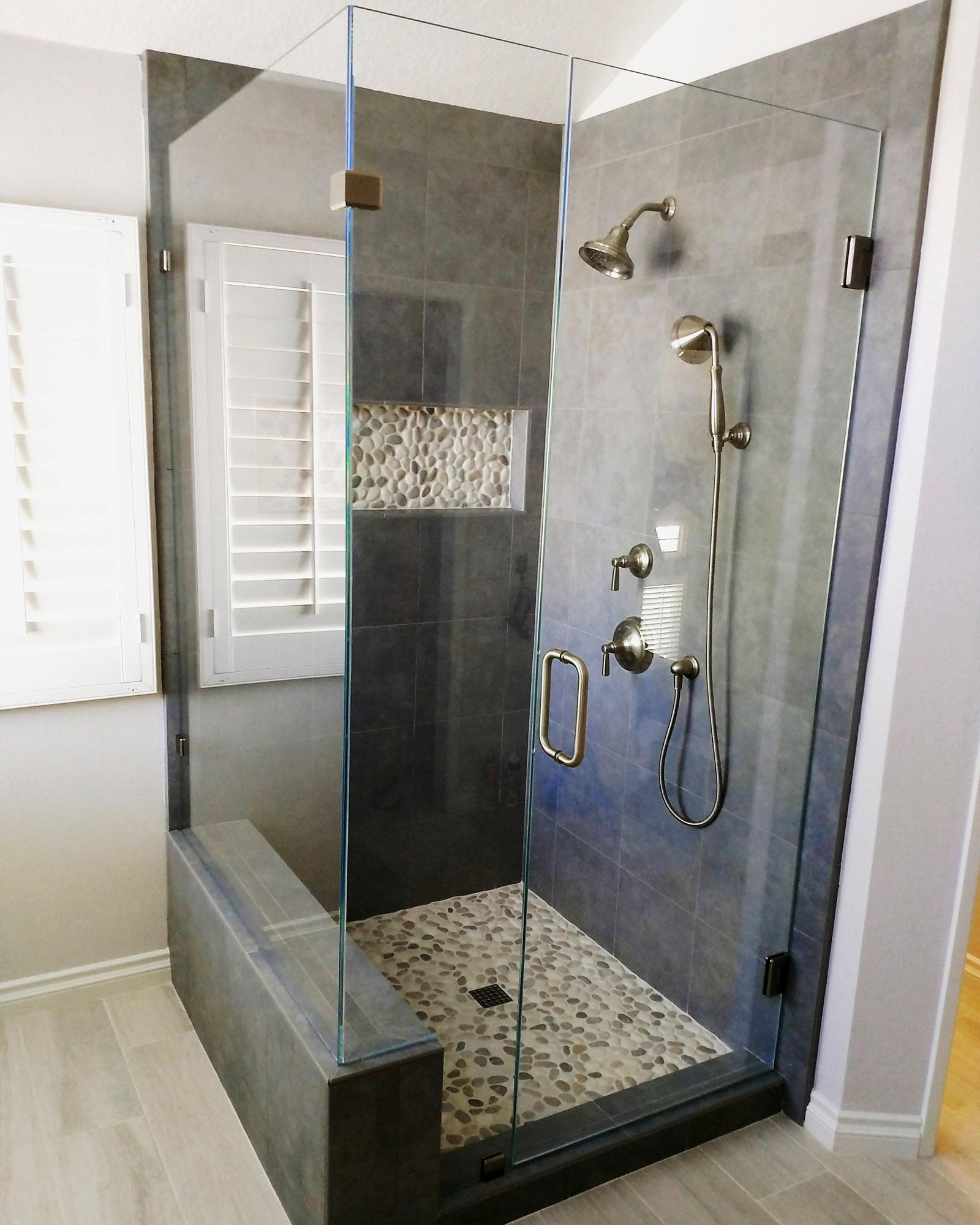 90 Degree Starphire by Blizzard Frameless Showers & 90 Degree Shower Door Gallery \u2013 Blizzard Frameless
