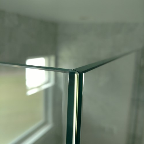 Detail Miter Top View By Blizzard Frameless Showers