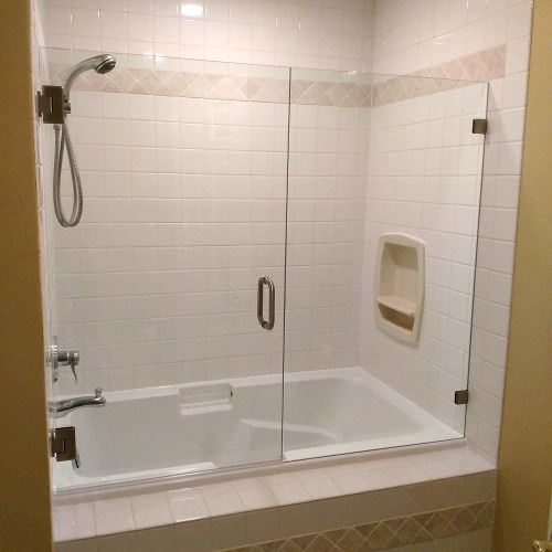 Inline With Tub 4 By Blizzard Frameless Showers