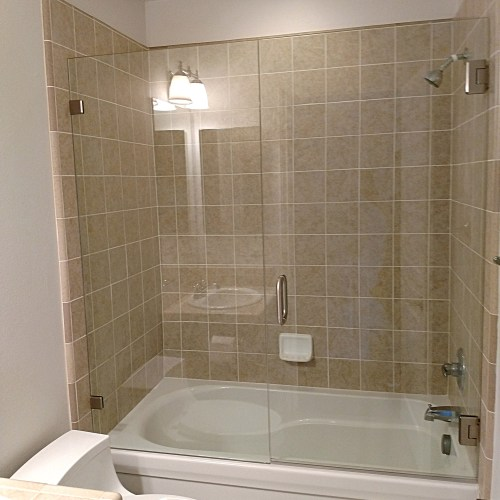Inline With Tub 5 By Blizzard Frameless Showers