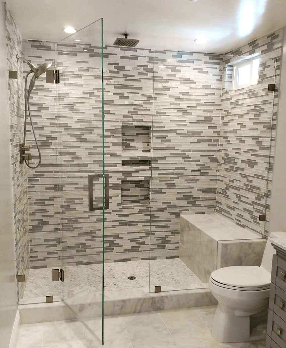 Home Slide Inline Glass To Glass With Notch Panel By Blizzard Frameless Showers