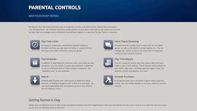 blizzard s parental controls