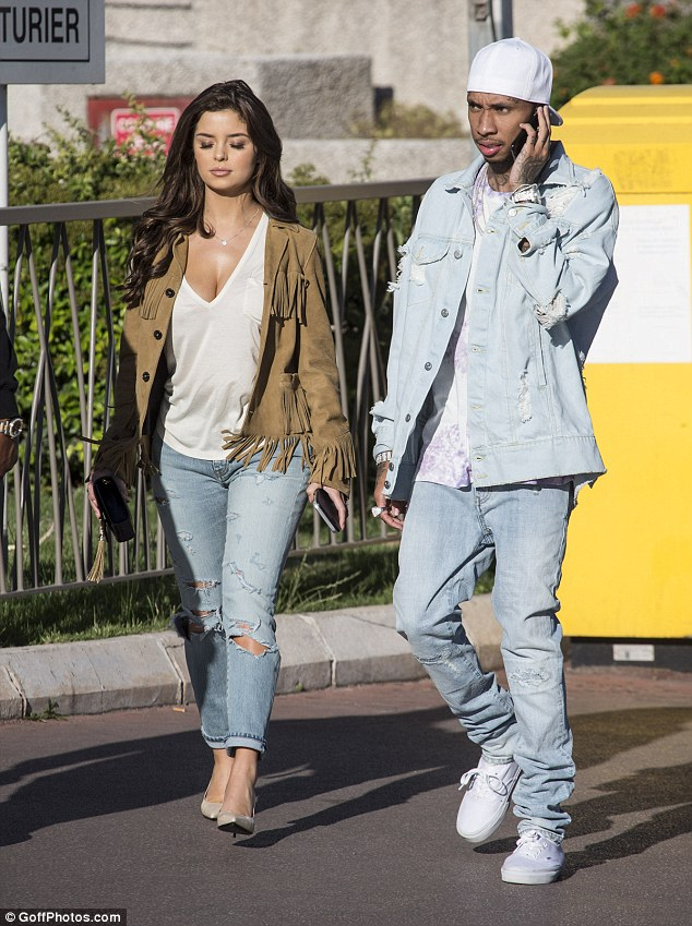 Former flame: The head turning starlet shot to fame this summer after being pictured with rapper Tyga on several occasions, including during a trip to the Cannes Film Festival