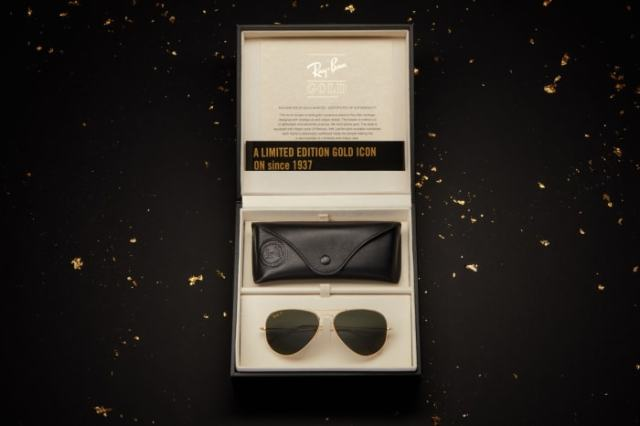 Ray Ban Aviator Solid Gold (4)