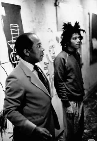 81011-1442245295-Stephen Torton-Jean Michel Basquiat with his father Gerard
