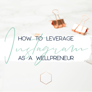how to leverage instagram as a wellpreneur