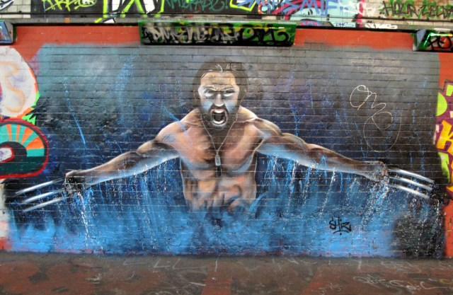 Wolverine Graffiti X-Men Comic Film Hugh Jackman