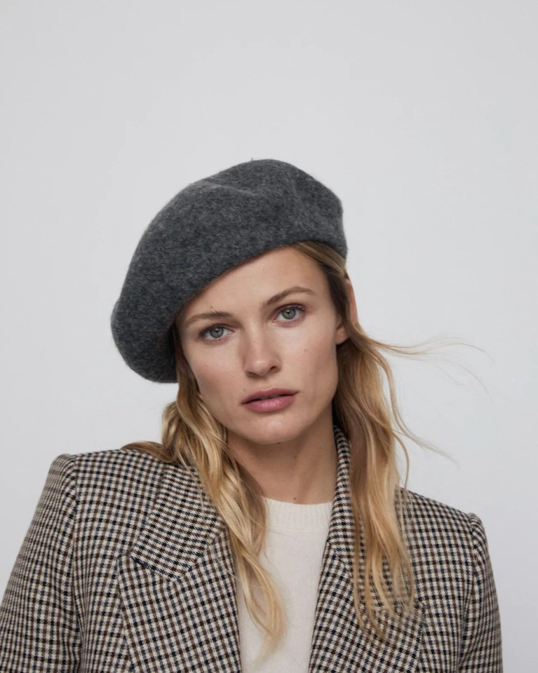 The Best Berets: ZARA Wool Beret in Anthracite Grey
