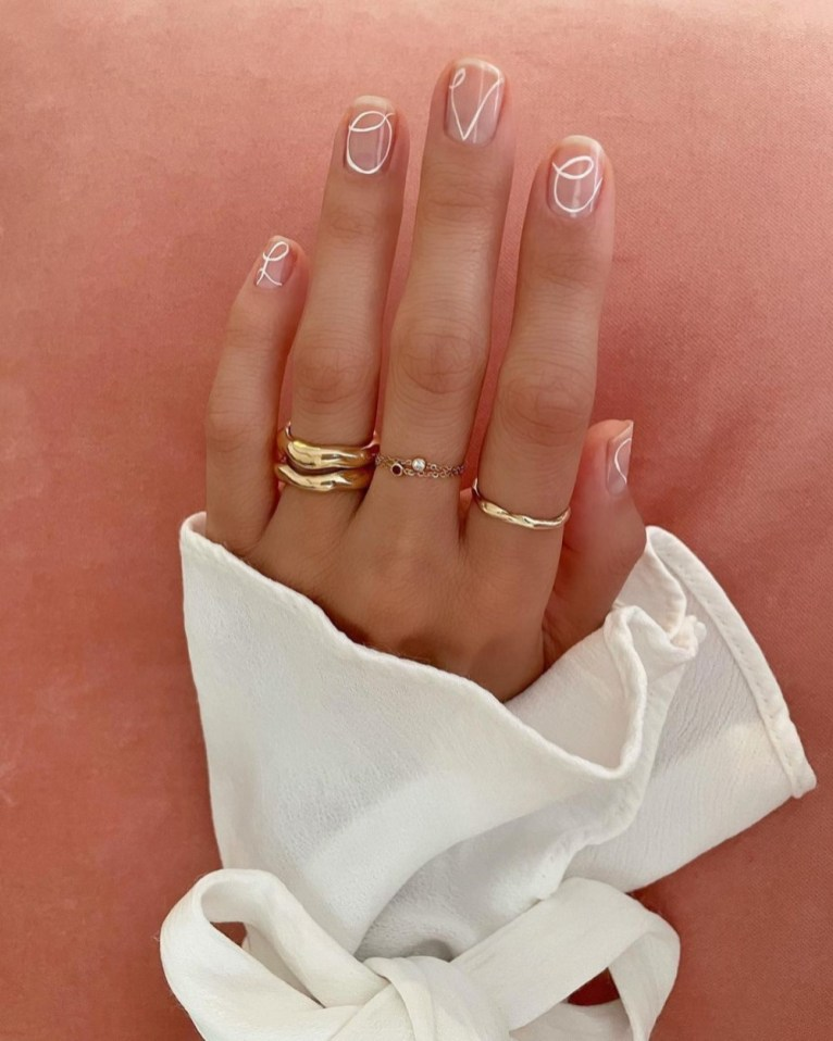 Spring Manicure: Fine Lines - Abstract Nails
