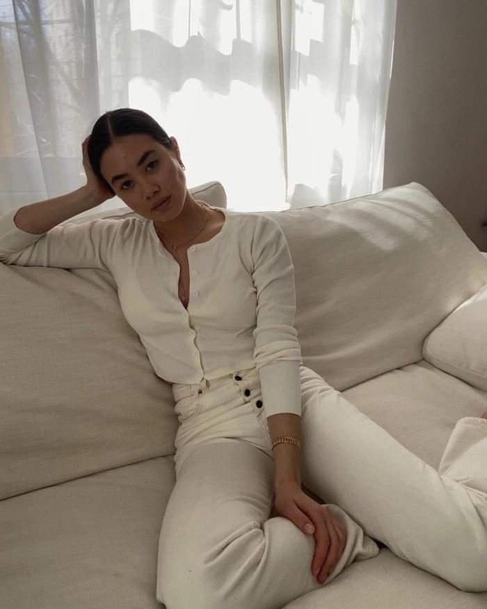 Spring 2021 Knitwear | Artist & Digital Creator Sasha Mei opts for something simple & classic