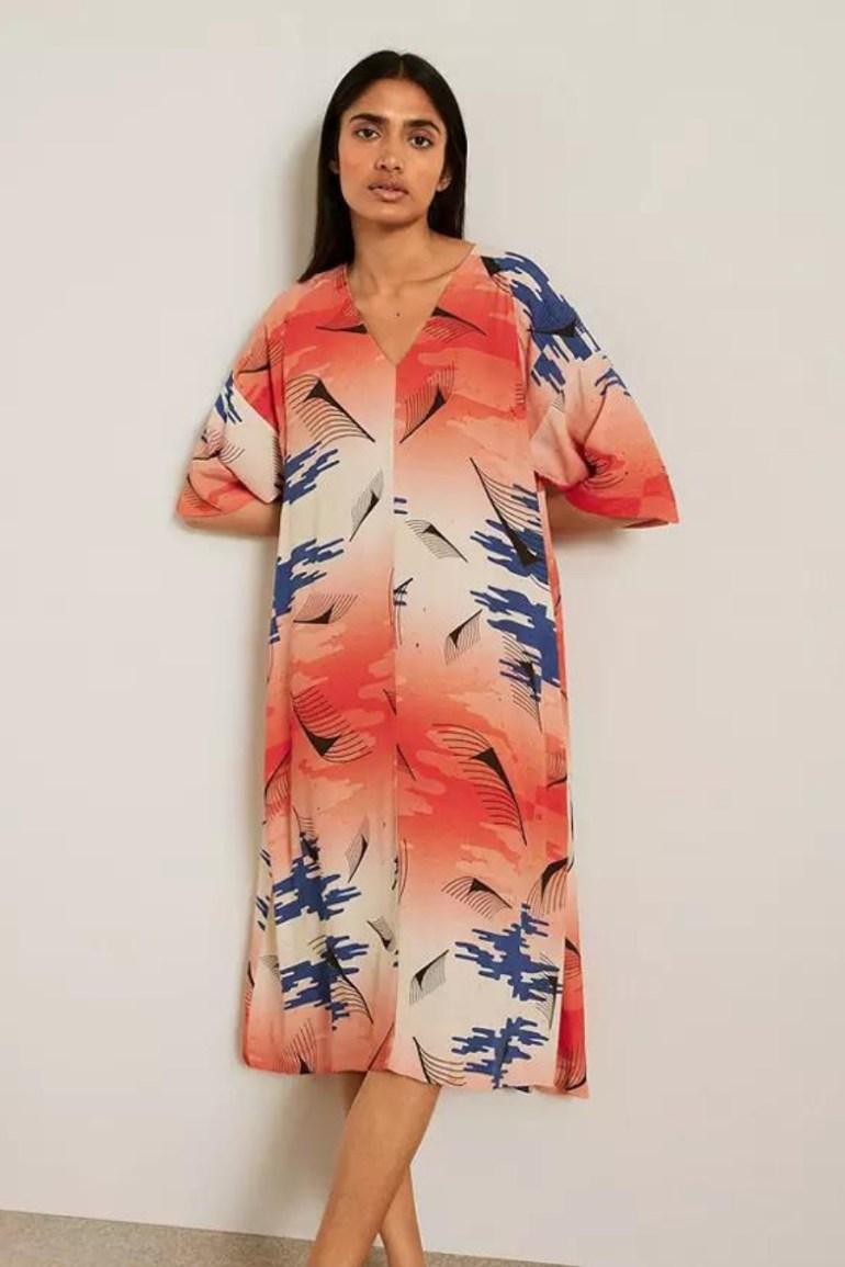 Kin Julmeme Ukiyo-e Print Dress