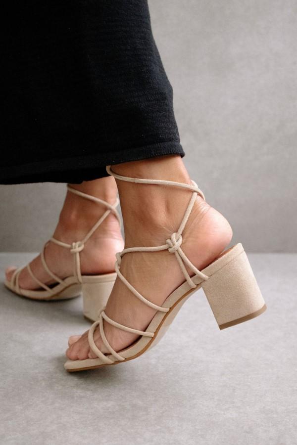 ALOHAS Paloma Suede Sandals - Sand