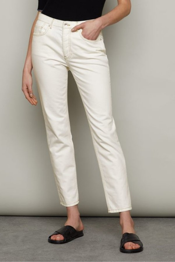 Shop the Jigsaw Blenheim Classic Straight Jean - Off White