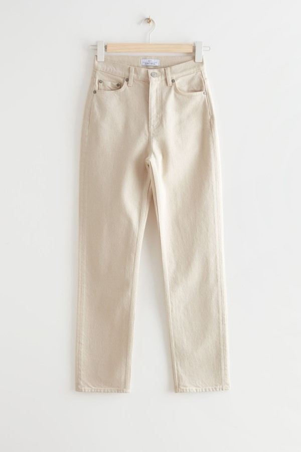Shop the & Other StoriesFavourite Cut Cropped Jeans - Ecru