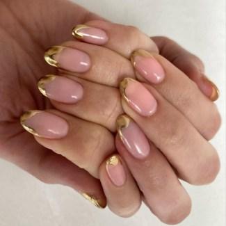 Autumn 2021 Nail Art Trends: Molten Metal Nails by Stephanie Staunton